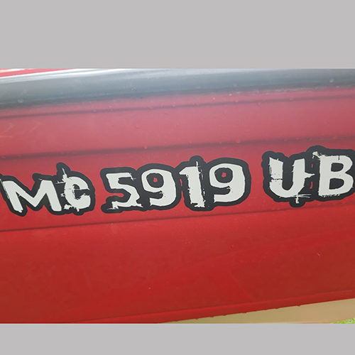 Custom Boat Registration Numbers – KnobWorx Custom Shift Knobs